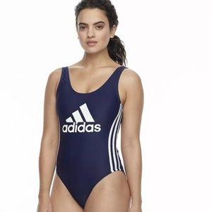 Adidas Core Navy Big Logo Swimsuit New Sz XL 86$